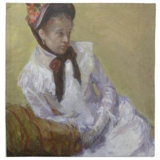 Porträt des Künstlers - Mary Cassatt Serviette