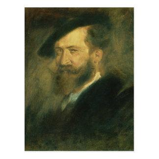 Porträt des Künstlers Wilhelm Busch, c.1878 Postkarte