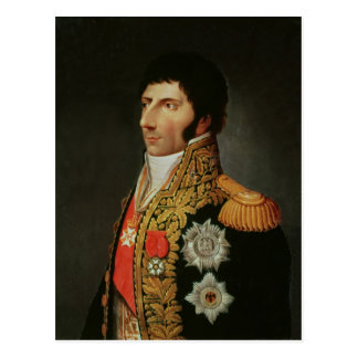 Porträt des Marschalls Charles Jean Bernadotte Postkarte