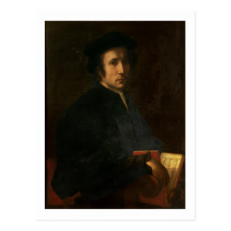 Porträt des Musiker-Francesco dell'Ajolle, C. Postkarte
