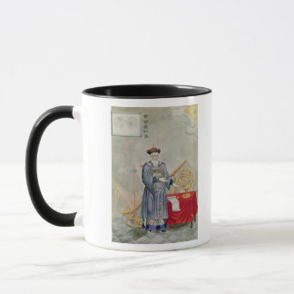 Porträt des Vaters Ferdinand Verbiest Tasse