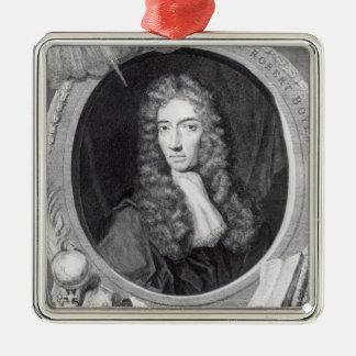 Porträt des werten Roberts Boyle Quadratisches Silberfarbenes Ornament