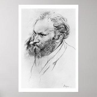 Porträt Edgar Degass   von Edouard Manet Poster