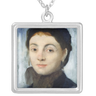 Porträt Edgar Degass   von Josephine Gaujelin, Versilberte Kette