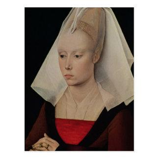 Porträt einer Dame, c.1450-60 Postkarte