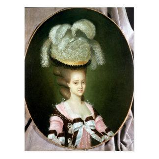 Porträt einer Dame in einem Hut Postkarte