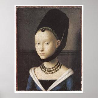 Porträt einer Dame, Petrus Christus Posterdruck