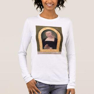 Porträt einer Dame (Platte) Langarm T-Shirt