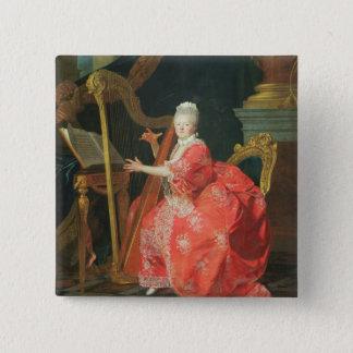 Porträt einer Dame, sagte, Madame Adelaide, DA zu Quadratischer Button 5,1 Cm