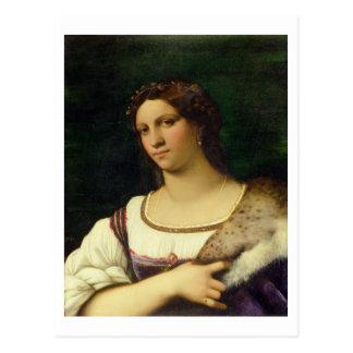 Porträt einer Frau, 1512 (Öl auf Leinwand) Postkarte