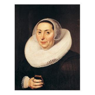 Porträt einer Frau, 1665 Postkarte