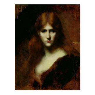 Porträt einer Frau 2 Postkarte