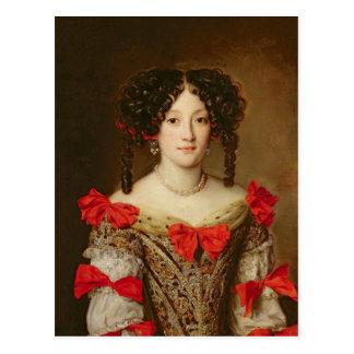 Porträt einer Frau 3 Postkarte