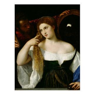 Porträt einer Frau an ihrer Toilette, 1512-15 Postkarte