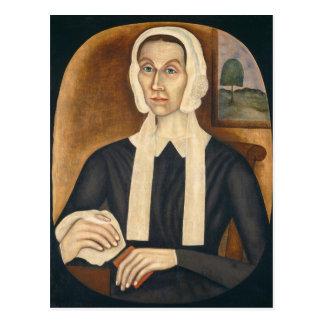 Porträt einer Frau, C. 1845 (Öl auf Leinwand) Postkarte