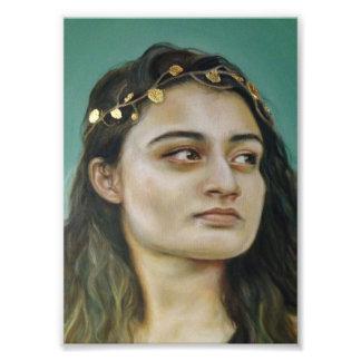 Porträt einer Frau Fotodruck