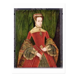 Porträt einer Frau, gealtert 16, vorher identifie Postkarte