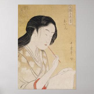 Porträt einer Frau Poster