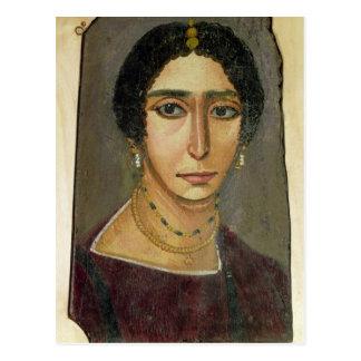 Porträt einer Frau, von Fayum, 1.-. Jahrhundert Postkarte