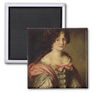 Porträt einer jungen Dame Quadratischer Magnet