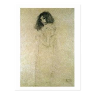 Porträt einer jungen Frau, 1896-97 Postkarte