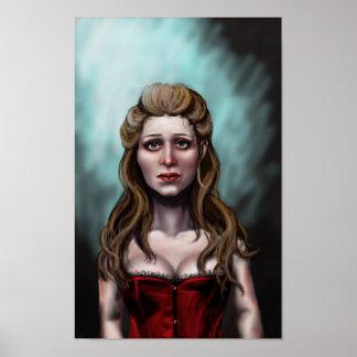Porträt einer jungen Frau Poster