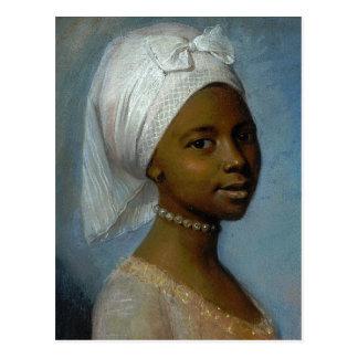 Porträt einer jungen Frau Postkarte