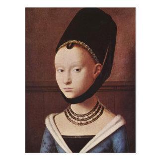 Porträt einer junges Mädchen-Postkarte
