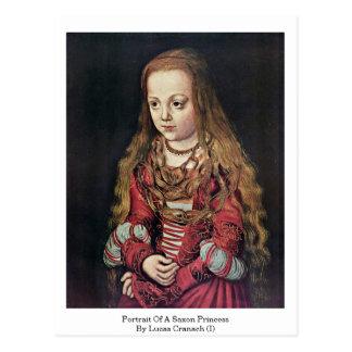 Porträt einer sächsischen Prinzessin By Lucas Postkarte