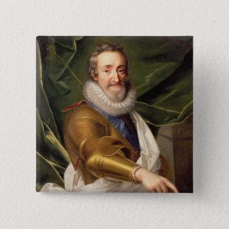 Porträt eines Adligs in der Rüstung Quadratischer Button 5,1 Cm
