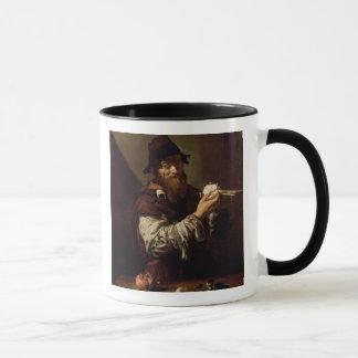Porträt eines alten Mannes mit einer Zwiebel (Öl Tasse