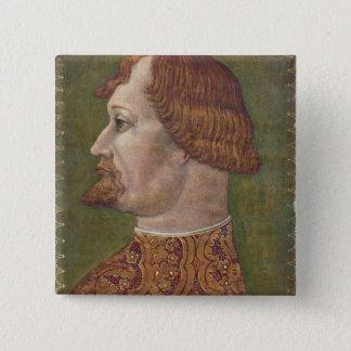 Porträt eines bärtigen Adligs, vielleicht Quadratischer Button 5,1 Cm