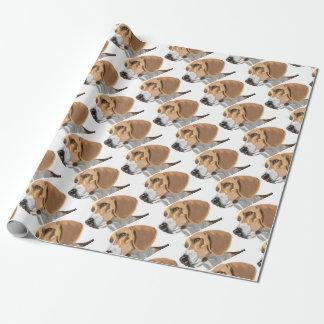 Porträt eines Beagle-Kopfes Geschenkpapier
