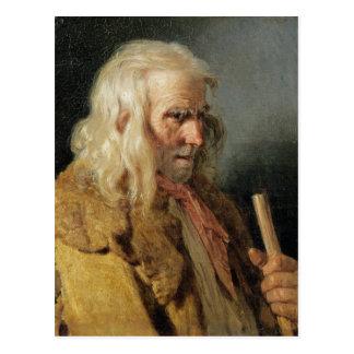 Porträt eines bretonischen Bauers, 1834 Postkarte