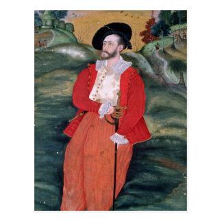 Porträt eines europäischen Seemanns, c.1590 Postkarte