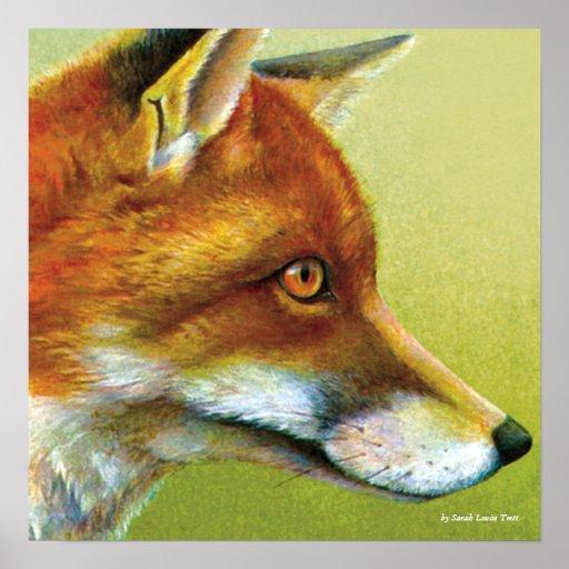 Porträt eines Fuchs-Kunst-Plakatdruckes Plakatdruck