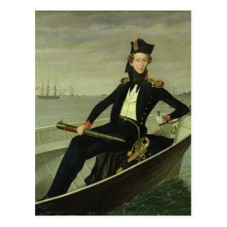 Porträt eines jungen dänischen Marineoffiziers, Postkarte