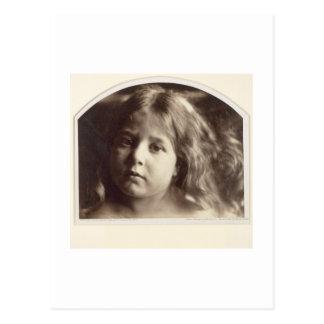 Porträt eines jungen Mädchens (Albumendruck von Postkarte