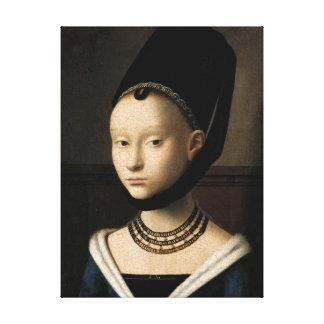 Porträt eines jungen Mädchens (Christus) 1465-1470 Galerie Faltleinwand