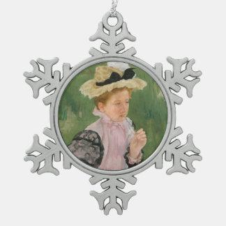 Porträt eines jungen Mädchens, circa 1899 Schneeflocken Zinn-Ornament