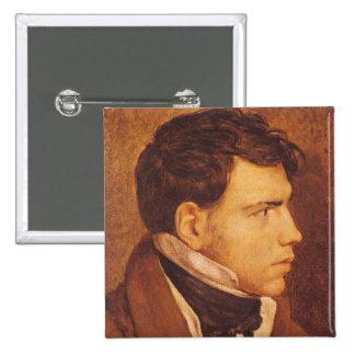 Porträt eines jungen Mannes 2 Quadratischer Button 5,1 Cm