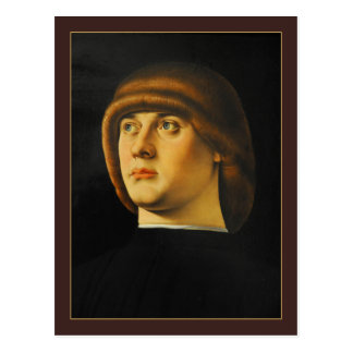 Porträt eines jungen Mannes durch Jacometto Postkarte