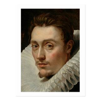 Porträt eines jungen Mannes durch Rubens Postkarte