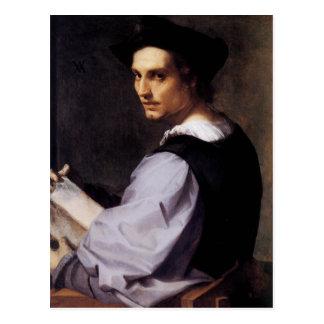 Porträt eines jungen Mannes Postkarte