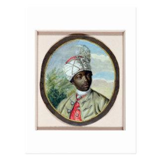 Porträt eines jungen Mannes (w/c und bodycolour Postkarte