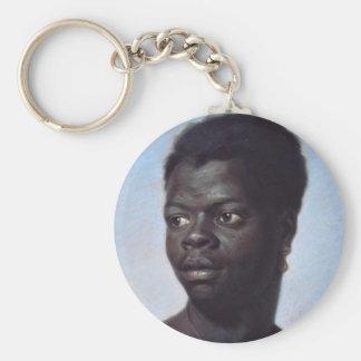 Porträt eines jungen Schwarzen Schlüsselanhänger