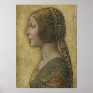 Porträt eines jungen Verlobten durch Leonardo da Plakate