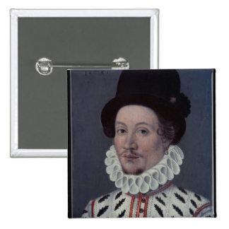 Porträt eines Mannes, 1575 Quadratischer Button 5,1 Cm