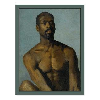 Porträt eines Mannes durch Buchser Postkarten