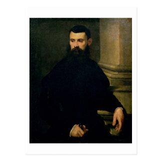 Porträt eines Mannes (Öl auf Leinwand) 2 Postkarte